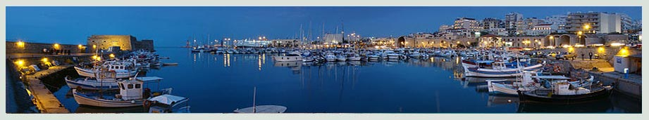 heraklion at night